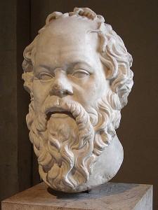 """Sokrates: """"Ich weiß, dass ich nichts weiß""""."""