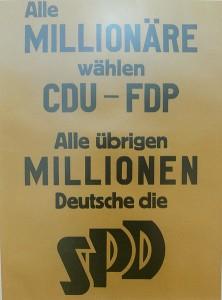 Wahlplakat der SPD 1949 (Quelle: Wikimedia)