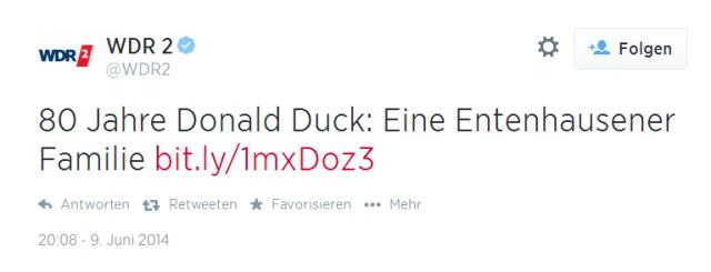 WDR Tweet entenhausen