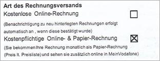 Vodafone Vertrag Papierklausel