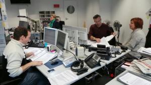 """Redaktion der """"Lokalzeit 2 go"""" (Foto: WDR/Steinkemper)"""