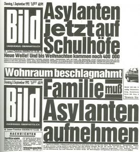 """Bild-""""Schlag""""-Zeilen in den 1990er Jahren"""