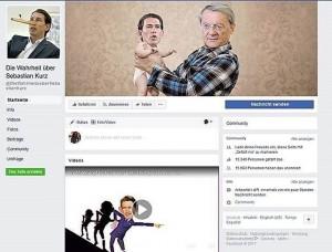 Gefakete Facebook-Seite